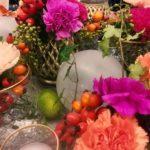 Hochzeitsdekoration bunt
