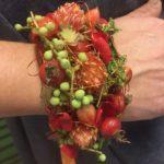 Hochzeit Armband rot orange