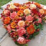 Trauer Beerdigung herz rot orange