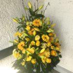 Trauer Beerdigung Gesteck gross gelb